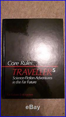 Traveller 5 core rule book signed by Marc Miller