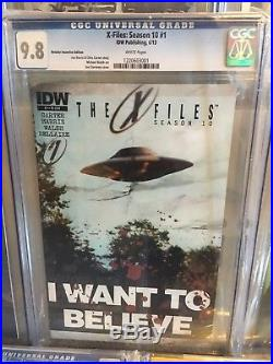 ULTIMATE X-Files Comic Book Collection CGC 9.8, Hard To Find, Signature Series