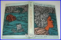URSULA K LE GUIN 1968 A WIZARD OF EARTHSEA BOOK PARNASSUS PRESS GORGEOUS withDJ