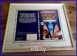 Unique Robert Holmes signed and framed The Two Doctors book cover