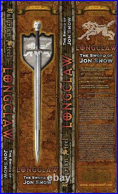 VALYRIAN STEEL Game of Thrones Longclaw Sword Jon Snow 2nd Book Edition SEALED