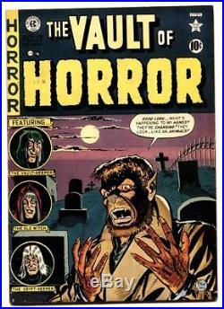 VAULT OF HORROR #17 Werewolf cover by Craig-Horror EC Comic book VF
