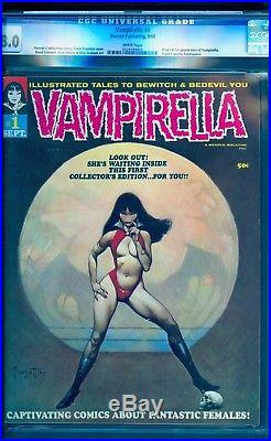 Vampirella 1 Cgc 8.0 White Page See This Book On A No Reserve Auction