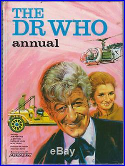 Very rare the Pink Pertwee Doctor Who Annual, pub 1970 for 1971. GC+, unclipped
