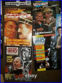 Vintage Doctor Who Magazine & Book Lot of 28