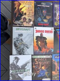 Vintage RolePlaying Games Book Lot Of 40 Rare See Photos For Titles