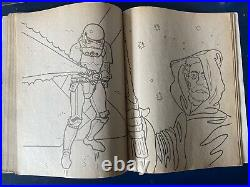 Vintage Star Wars 1977 GDE Canadian French Coloring Book Kenner RARE