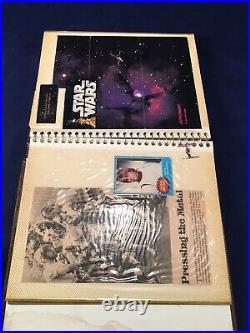 Vintage Star Wars Scrapbook Early Bird Sticker Wax Pack Wrapper Cards Paper Clip