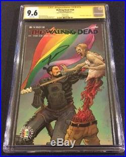 WALKING DEAD #168 Comic Book CGC 9.6 SIGNED Robert KIRKMAN Gay Pride Variant Cvr
