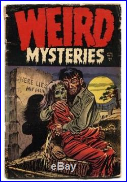 WEIRD MYSTERIES #12 1954-PRE-CODE HORROR-sick cover! Comic book