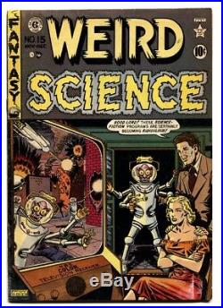 WEIRD SCIENCE #15-comic book WAR OF THE WORLDS ISSUE! -E. C. GOLDEN AGE-1950