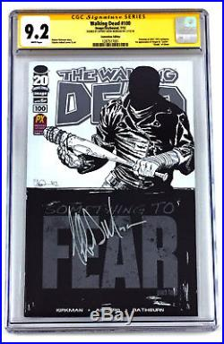 Walking Dead #100 SDCC 9.2 CGC SS Comic Book Signed By Jeffrey Dean Morgan Negan