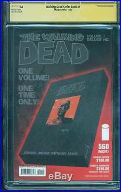 Walking Dead Script Book 1 CGC SS 9.8 Robert Kirkman Signed 2005 Rathburn Cover