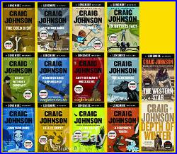 Walt Longmire #1-14 Book Series Set Collection by Craig Johnson TRADE PAPERBACK