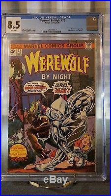 Werewolf By Night #32 Cgc 8.5 1st Moon Knight Awesome Book