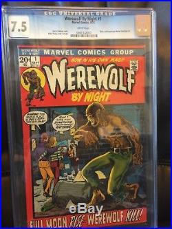 Werewolf by Night 1 7.5 Very Fine High Resolution Scans! Key Book