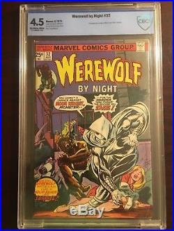 Werewolf by night 32 CGC 4.5 Comic Book