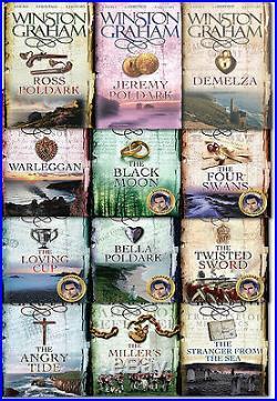 Winston Graham Poldark Series 12 Books Collection Set 1-12 Novel of Cornwall